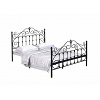 Cheap 0.8mm Steel Queen Size Double ISO9001 Metal Pipe Bed for sale
