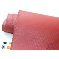 "Cheap Red Silicone Coated Fiberglass Fabric Engine Thermal Insulation 1mm 30oz 39"" for sale"