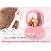 Cheap mult i- use Cute Portable charger mirror power bank 5600 mah high capacity for sale