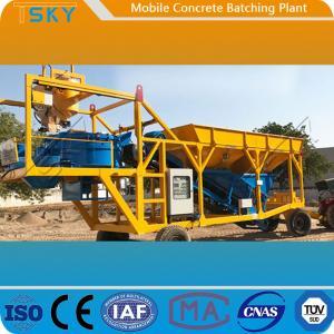 Cheap HZS75 Mobile Concrete Batching Plant for sale