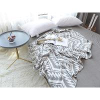 China geometric zigzags chevrons triangles Bedspread knitted Throw cotton Blanket Wrap Rug on sale