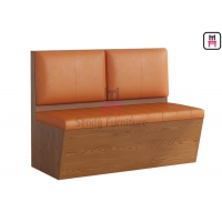 Cheap Waterproof Laminate PU Leather Upholstered Restaurant Booth 3.8cbm for sale