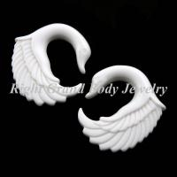 Buy cheap White Swan Ear Gauges Plugs Earring Hook Piercings For Wedding from wholesalers