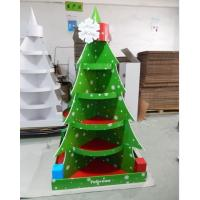 Cheap Christmas Tree Cardboard Floor Display stand full color printing,cardboard retail display for store fixsture for sale