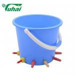 Cheap Blue Calf Feeding Bucket With Teat, High Strength 10 Teat Calf Feeder for sale