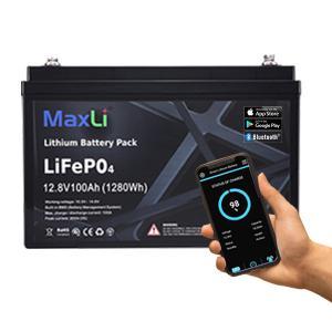 Cheap MaxLi 12v-48v 150Ah BMS Golf Cart Lithium Battery IP65 for sale