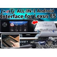 China Lexus ES Android Video  Interface Control by OEM  Knob , Touch Sensor Board ,  Mouse 4- Core A9 Processor on sale
