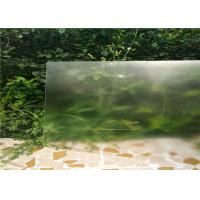Cheap Solid Structure Low Iron Toughened Glass Flat Shape 3.2mm / 4mm Thickness for sale