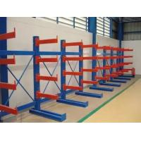 Cheap Single / Double Side Warehouse Cantilever Steel Rack Custom Size ISO9001 / SGS for sale