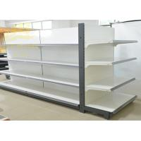 Double Side Commercial Steel Racks Hypermarket, Slanted Arms Cold Rolled Steel