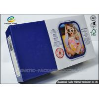Cheap Promotional Electronics Packaging Boxes Blue Paperboard Customized Sizes for sale