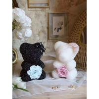 Cheap New Arrival Christmas Gift Diamond Bear Preserved Rose Bear Valantine's day gift   Christmas day gift for sale