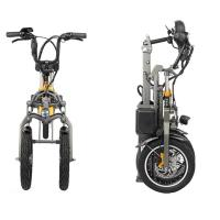Cheap 48V 250W Adult Folding Electric Bicycle Three Wheels Lithium 36V 10.4Ah Battery for sale
