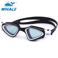 China Crystal Clear Fog Free Swimming Goggles PC Lens Silicone Eye Seals For Mens on sale