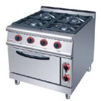 Cheap Silver Electric Oven Commercial Cooking Equipment Gas Range With 4 Burner 7 for sale