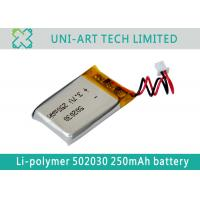 Cheap High quality 502030 250mAh factory OEM small sized li-ion battery for inteligent ware for sale