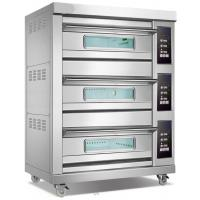 Cheap 3 Deck Oven 6 Pan Commercial Conveyor Electric Pizza Oven For Bakeries for sale