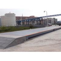 Cheap 3x25m Size Electronic Lorry Weighbridge Large Screen Display With Steel Ramps for sale