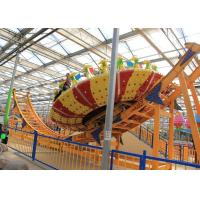 Cheap Frp Material Amusement Park Machines , Thrilling Flying Ufo Disko Rides for sale
