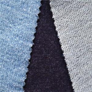 spring indigo knit denim fabric