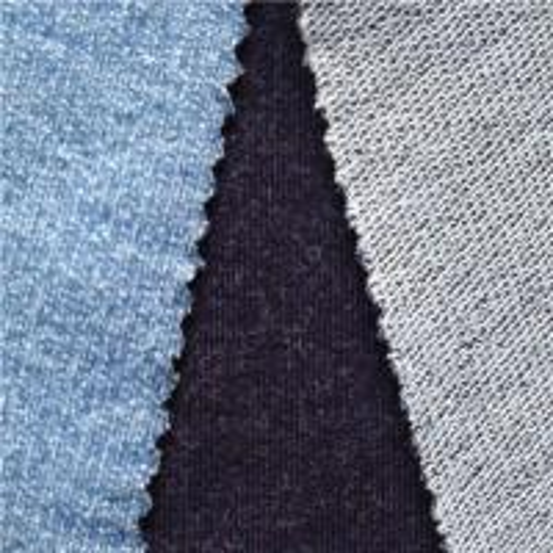 Quality spring indigo knit denim fabric wholesale