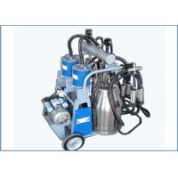Cheap Automatic Trolley Type Piston Pump Mobile Milking Machine For Dairy Cows , 25L for sale