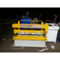 Cheap Trapezoid IBR Tile Roof Panel Roll Forming Machine , Metal Roll Forming Machines for sale