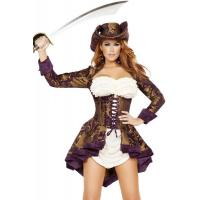 Cheap Exotic Marauder Womens Sexy Costumes  Indian Fancy Dress Pirate for sale