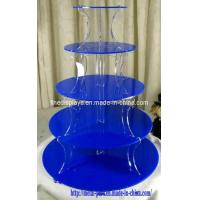 Cheap Blue Acrylic Cake Stand (CS-A-0021) for sale