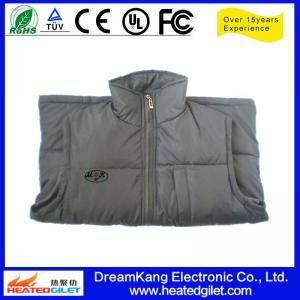 Cheap 7.4V 6000mAh rechargable lithium battery heating vest for sale