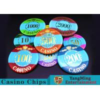 Cheap Mini Engraved Customizable Casino Poker Chips For Entertainment Venues Games for sale