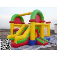 Cheap Colorful PVC Tarpaulin Inflatable Bounce House With Slide Kids Bouncer Castle for sale