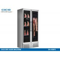Dual Door Meat Dry Aging Refrigerator , Commercial Dry Aging Coolers
