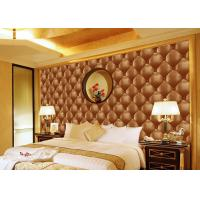 Cheap Concise Diamond Printing Inmitation Leather Wall Coverings Moisture Resistant for sale