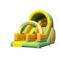 Cheap Public Jungle Bounce House With Slide , Entertainment  Inflatable Slip N Slide for sale