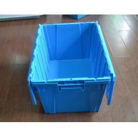 Cheap plastic crate agriculture Stack and Nest plastic tote crate with lid plastic attached-lid for sale