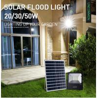 Cheap Remote Control Solar Landscape Flood Lights , 20W Solar Powered Ground Flood Lights for sale