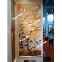 Cheap Decorative Engraved Partition Glass Wall for sale