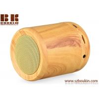 Buy cheap 2018 newest hot sell cylinder portable wireless wooden speaker from wholesalers