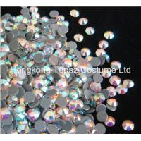Cheap hot fix rhinestone,hot fix strass,hot fix crystal stone clear ab color for sale