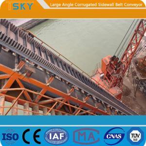 Cheap B300 80mm Sidewall 2.0m/s Rubber Belt Conveyor for sale