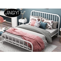 Cheap Black 1.5mm King Size Bed Frame Furniture Living Room ODM Queen Size Double Bed for sale
