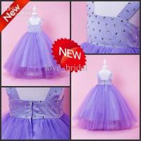 Made cheap pink bow ankle length ball gown christmas pageant dresses