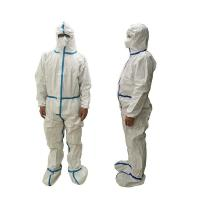 Cheap Lightweight Disposable Protective Coverall Breathable Dust Proof Anti - Static for sale