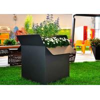 Cheap Painted Black Square Stainless Steel Planters Waterproof American Style  for sale