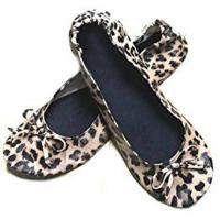 Cheap Fake Snake Skin of Folding Ballet Slippers Women with Compact Carrying Tote Bag for Dancing and Driving for sale