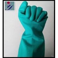 Buy cheap Green Long Industry Protection Nitrile Gloves from wholesalers