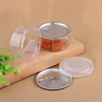 Cheap 100ml Leaves Easy Open Cans , Childproof Lid Food Jars With Embossing Logo for sale
