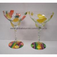 Cheap Handpainted Mouth-blown Margarita Glass Ideal for Giftware, Partyware and Drinkware, Tableware for sale
