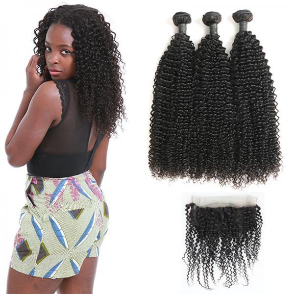 Quality 9A Peruvian Human Hair Extensions / 3 Bundles Of Virgin Peruvian Hair Kinky Wave wholesale